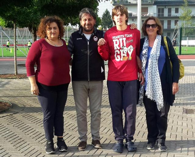 loredana guida_Luca Franchi respo gestione struttura san luigi_Ilaria Brazoli organizzatrice evento con guida e suo figlio
