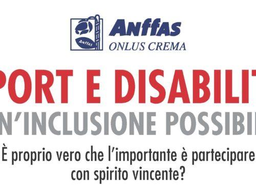 SPORT E DISABILITA' – UN'INCLUSIONE POSSIBILE. SECONDO INCONTRO ANFFAS