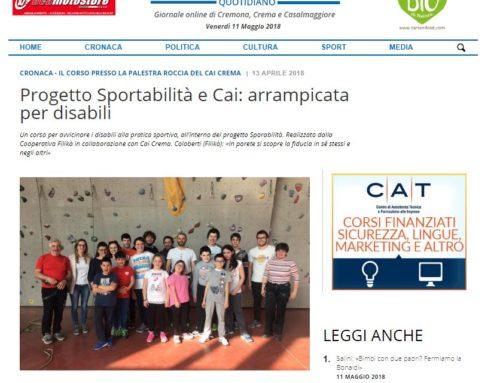 Progetto Sportabilità e Cai: arrampicata per disabili